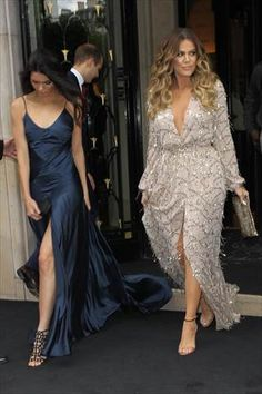 Kendall Jenner and Khloe Kardashian stun while leaving the Four Seasons George V Hotel in Paris, France.