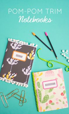 Transform composition notebooks by covering them in vinyl wallpaper scraps and…