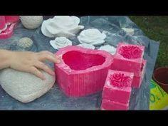 Beton giessen - Herzform aus Silikon selbst machen - YouTube
