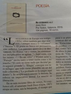 #RecomiendoEsteLibro #JordiDoce #NoEstábamosAllí #RomeroBarea @MondeDiploEs @IRamonet @PreTextosLibros @masleer