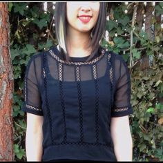 ASOS sheer blouse ASOS Black sheer top super cute can be worn with a skirt or jeans size 8 ASOS Tops Blouses