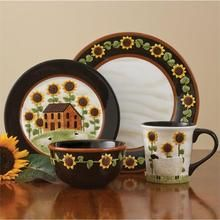 House & Sunflower Cereal Bowl (set of 4)
