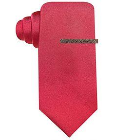 Red hot.  Ryan Seacrest Distinction Seacrest Solid Slim Tie - Ryan Seacrest Distinction - Men - Macy's #RSDistinction @RyanSeacrest #RyanSeacrest