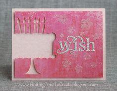 Feminine Birthday Card by Kelly Wayment #silhouettedesignteam