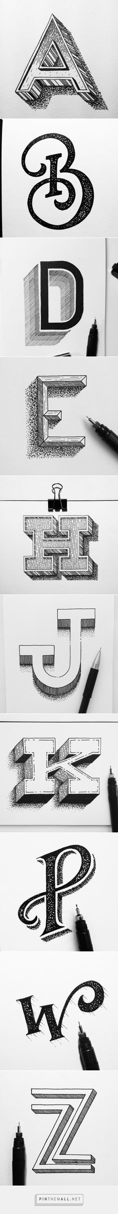 Betype – Typography & Lettering Inspiration – Expolore the best and the special ideas about Drop cap Handlettering Abc, Typographie Fonts, Cool Typography, Graphic Design Typography, Lettering Design, Hand Drawn Typography, Typography Drawing, Logo Design, Hand Drawn Fonts