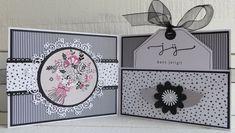 Fancy Fold Cards, Folded Cards, Eid Card Designs, Creative Birthday Cards, Marianne Design, Flower Crafts, Craft Tutorials, Diy Cards, Stampin Up