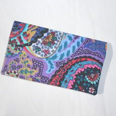 Porte chéquier tissu multicolore