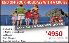There's no better way to end your holiday than with a boat cruise!  Call us on 031 2010 630 for more info.