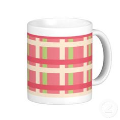 KRW Raspberry Lime Plaid Coffee Mug