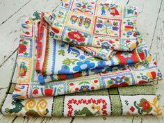 Vintage Pennsylvania Dutch Cotton Fabric BUNDLE by Bingville