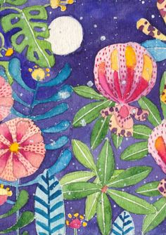 """Sri Lankan Night Garden"" by Gabby MALPAS 