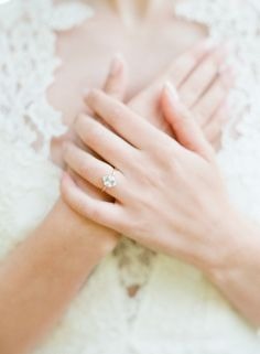 Engagement Ring Wedding Inspiration - Style Me Pretty