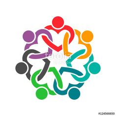 """Download the royalty-free photo """" People Heart Group Teamwork Logo. Vector graphic design illustr"""" created by Fotolia365 at the lowest price on Fotolia.com. Browse our cheap image bank online to find the perfect stock photo for your marketing projects!"""