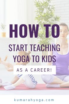 What steps should you take to start teaching yoga to kids? How do you get a job teaching yoga to kids? Learn what you need to do be a successful and awesome kid yoga teacher. Plus tips on questions to ask before you start teaching yoga to kids Teaching Yoga To Kids, Yoga For Kids, Exercise For Kids, Yoga Training, Yoga Teacher Training, Yoga Routine, Strand Yoga, Yoga Nature, Zen Yoga