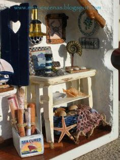A detail of my miniature Mediterranean roombox (Handmade by Eva Perendreu)