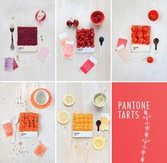 Pantone tarts by food designer Emilie de Griottes