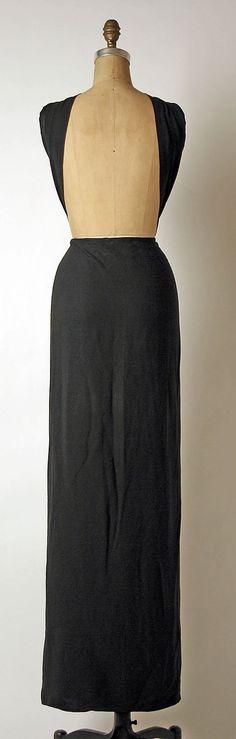 Evening dress Madame Grès (Alix Barton)  (French, Paris 1903–1993 Var region)  Date: late 1960s–mid-1980s Culture: French Medium: silk. Back
