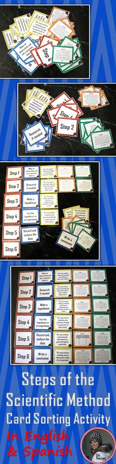 Practice the steps of the scientific method with this colorful card sorting activity. Great for middle school science! Use it as a fun review or pre-assessment.