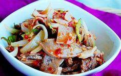 Spicy pork tongue salad ;P