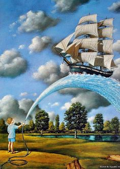 ♂ Dream ✚ Imagination ✚ Surrealism Rafal Olbinski by LCKay