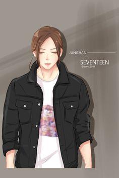 #junghan #jeonghan #정한 #세븐틴 #seventeen #kpop #fanart #fan-art