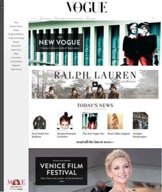 New Vogue website