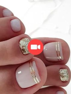 20 trendy winter nail colors & design ideas for 2019 – thetrendspotter – ★ nail art – nails design – Beach Toe Nails, Gold Toe Nails, Pretty Toe Nails, Cute Toe Nails, Summer Toe Nails, Winter Nails, Pretty Toes, Gold Nail, Winter Nail Colors