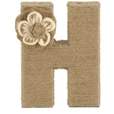 Wrapped Rope Burlap Monogram H Statue ($10) ❤ liked on Polyvore featuring home, home decor, floral home decor and burlap home decor