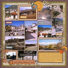 Mountain Trip scrapbook idea. I love pages that have multiple photos.