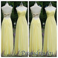 #promdress01 prom dresses - 2015 elegant yelow chiffon strapless prom dress for teens, ball gown,occasion dress for #prom2k15, custom made #promdress -> www.promdress01.c... #coniefox #2016prom