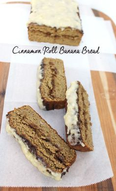 Amazing cinnamon roll banana bread with two ingredient glaze!! Super easy to make and taste like heaven!