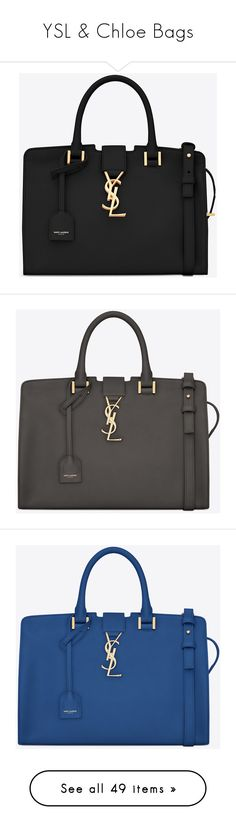 """""""YSL & Chloe Bags"""" by nicole231 ❤ liked on Polyvore featuring bags, handbags, shoulder bags, ysl, 100 leather handbags, leather key ring, leather shoulder bag, leather purses, genuine leather handbags and yves saint laurent handbags"""