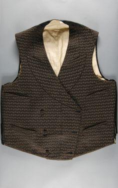 1898, America - Waistcoat by E. B. Waters, Philadelphia - Figured silk satin