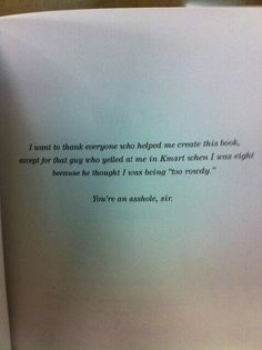 Let's Pretend This Never Happened by Sarah Lawson  26 Of The Greatest Book Dedications You Will Ever Read