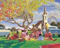 Sunday Picnic Sarah Jenkins Fine Art Print Poster