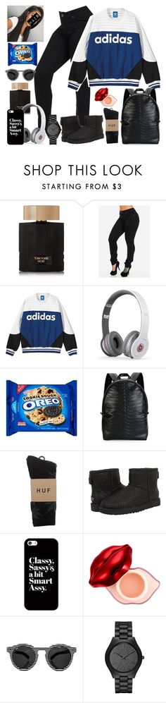 """""""Classy, Sassy & a bit Smart Assy """" by cissylion ❤ liked on Polyvore featuring Tom Ford, adidas, Alexander McQueen, HUF, UGG Australia, Casetify, Tony Moly, Illesteva and Michael Kors"""