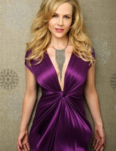 Julie Benz hot fancy stills from REGARD Magazine (June Silk Satin Dress, Satin Dresses, Nice Dresses, Julie Benz, Hollywood Actress Photos, Silk Evening Gown, Full Figured Women, Girl Inspiration, Famous Women