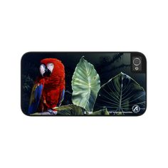 """Airstrike® Red Macaw iPhone 5 Case, Scarlet Macaw iPhone 5s Case, Parrot iPhone Case, Parrot Protective Phone Case """"Scarlet Macaw"""" 50-8227"""