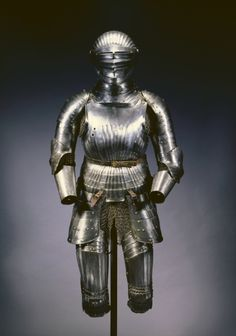 Partial Suit of Armor in Maximilian Style  Partial Suit of Armor in Maximilian Style, c. 1525 Germany, Nuremberg, 16th century steel, Overall - h:28.70 w:30.40 d:21.70 cm (h:11 1/4 w:11 15/16 d:8 1/2 inches) Wt: 2.72 kg. Gift of Mr. and Mrs. John L. Severance 1916.1714