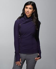 5bac3a93fd Lululemon Addict  two super pretty Bhakti Yoga Jackets in Coco Pique and  Black Grape.