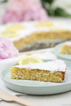 Rezept: Spanischer Mandelkuchen mit Zitrone – tulpentag Recipe: Spanish almond cake with lemon – tulip day Cake & Co, Almond Cakes, Roast Recipes, Afternoon Snacks, No Bake Desserts, Cake Cookies, Sweet Treats, Food And Drink, Yummy Food