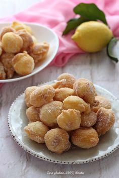 Frittelle morbidissime al limone - Mary Zero glutine...100% Bontà Croissants, Pretzel Bites, Doughnuts, Gluten Free, Bread, Ethnic Recipes, Desserts, Food, Headscarves