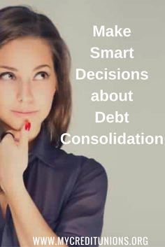 Debt consolidation combines all of your debt into one loan, usually at a lower interest rate than you were paying individually. Debt consolidation does not eliminate your debt, it simply makes it easier to handle.  Consolidation your Debt is not the same as credit counseling, although counseling may be a good idea if you need debt consolidation. When you obtain a debt consolidation loan, it's important that you don't continue to spend so that you incur additional debt.