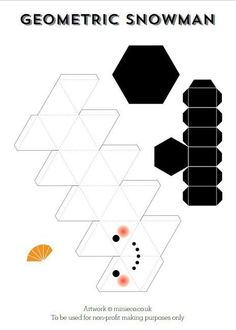 Geometric snowman, handmade Christmas decorations that make this Christmas green – Christmas Crafts Handmade Christmas Tree, Handmade Christmas Decorations, Christmas Art, Holiday Crafts, Green Christmas, Instruções Origami, Paper Crafts Origami, Paper Crafting, Decor Crafts