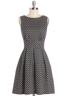 Ain't We Haute Fun? Dress in Hearts. Theres no doubt about it - youre guaranteed to have a ball while dressed in this printed frock, which is produced in the UK by Closet!  #modcloth