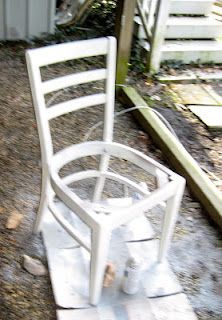 Ladder-back chairs refinishing process.