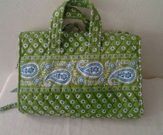 Vera Bradley Travel Toiletry Cosmetic Hanging Bag Organizer Green Apple in Health & Beauty, Makeup, Makeup Bags & Cases | eBay