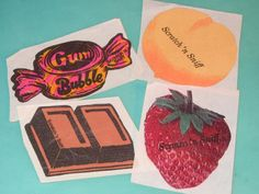 Vintage 80s Stickers | Vintage 80s Food Scratch and Sniff Stickers Sticker LOT