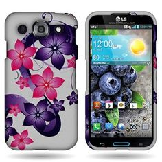 Amazon.com: CoverON® Hard Cover Case with DESIGN for LG Optimus G Pro With PRY- Triangle Case Removal Tool - SPRING FLOWER: Cell Phones & Ac...