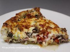 Esther, Mets, Pizza Recipes, Mozzarella, Quiche, Spaghetti, Breakfast, Ethnic Recipes, Desserts